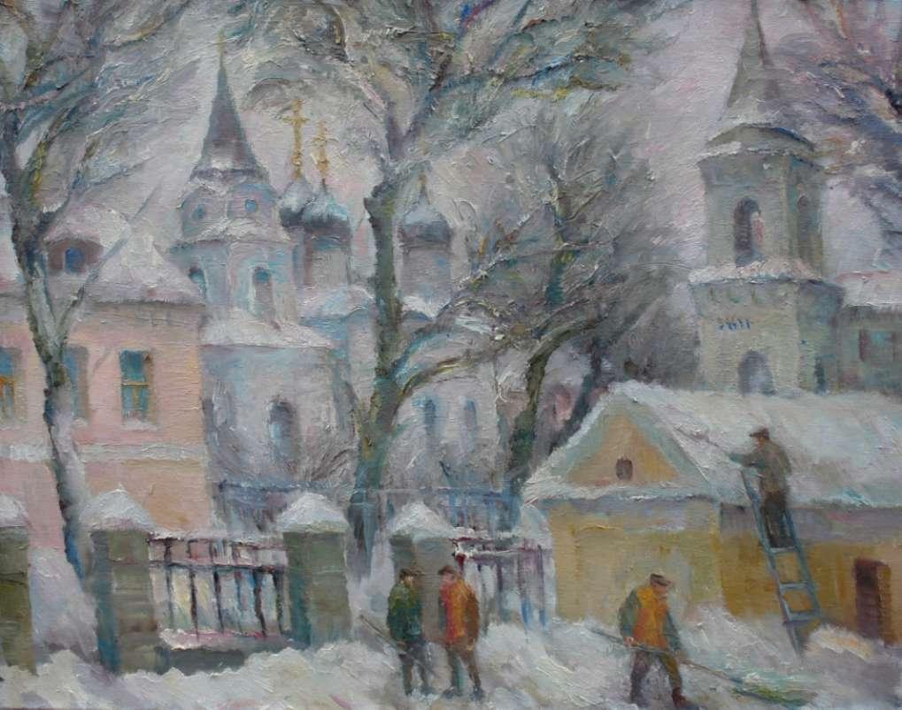 Зимний пейзаж. 2013. x.м. 70х90