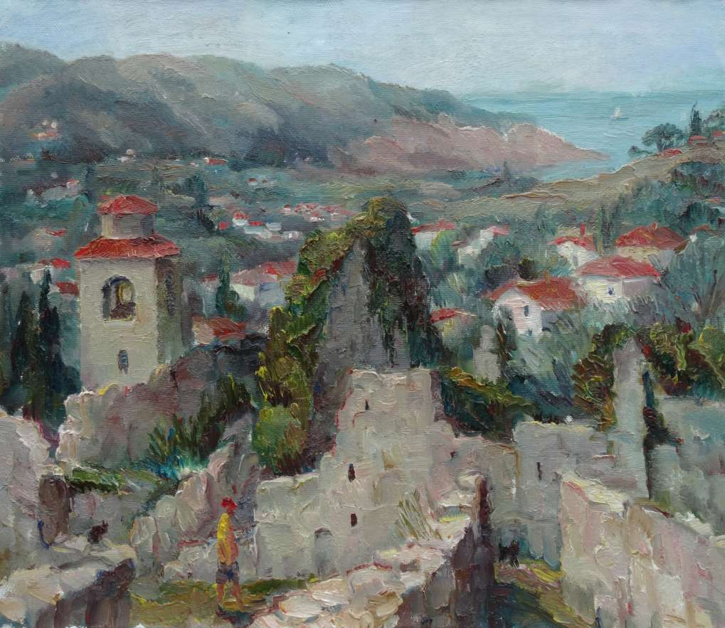 Черногория. Старый Бар. 2015. x. м. 60х70