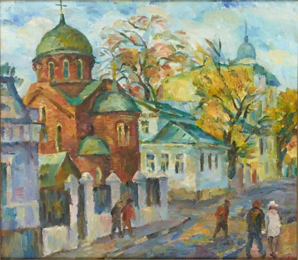 Осень. Новокузнецкая улица. 2012. x.м. 80х85